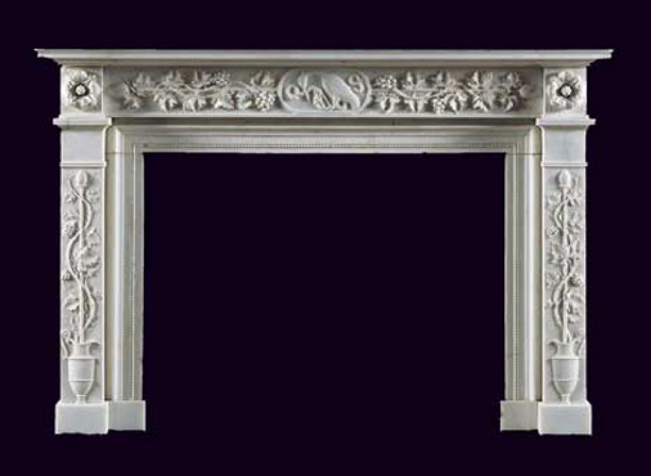 italian marble antique fireplace
