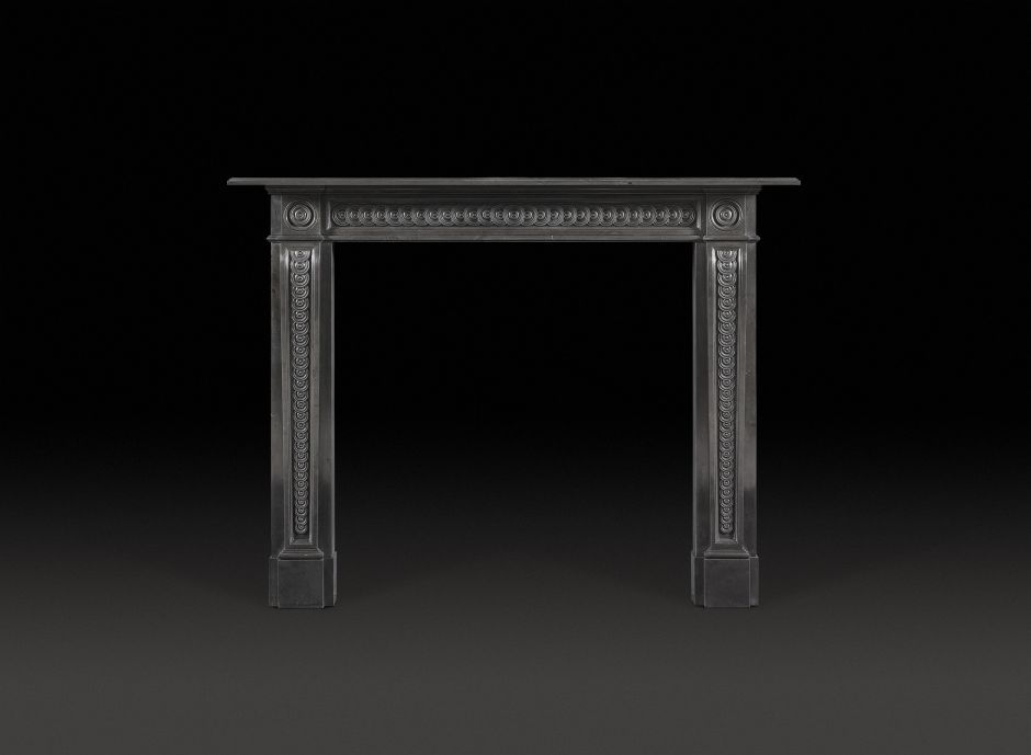 Burford Fireplace in Black Marble