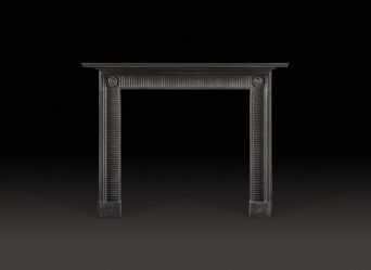 Compton Fireplace in Black Marble