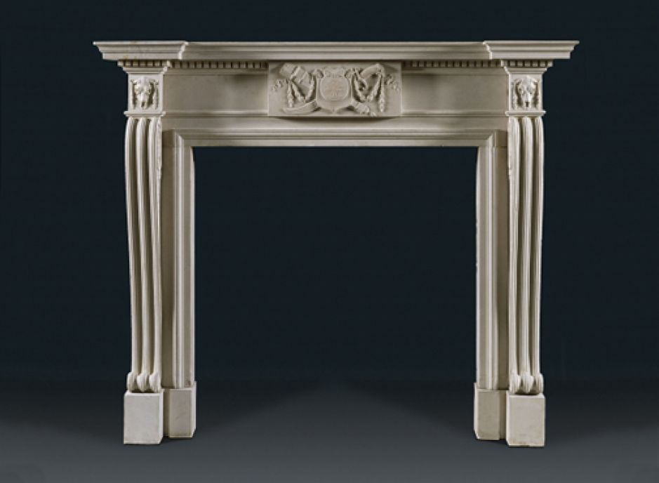 stone antique fireplace