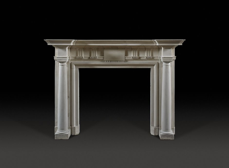 roman antique fireplace