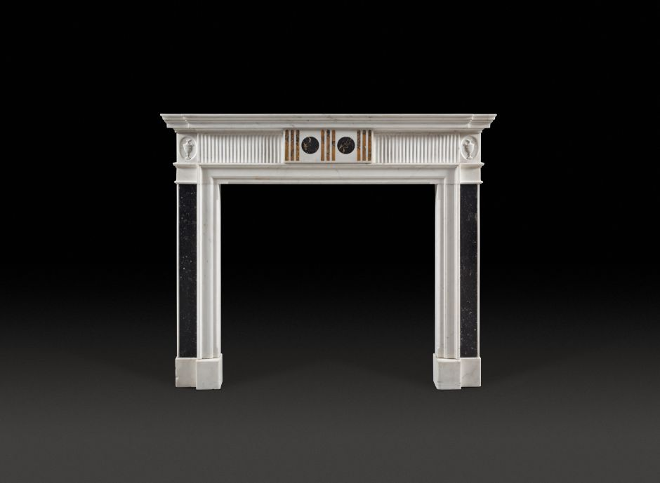 statuary marble antique fireplace