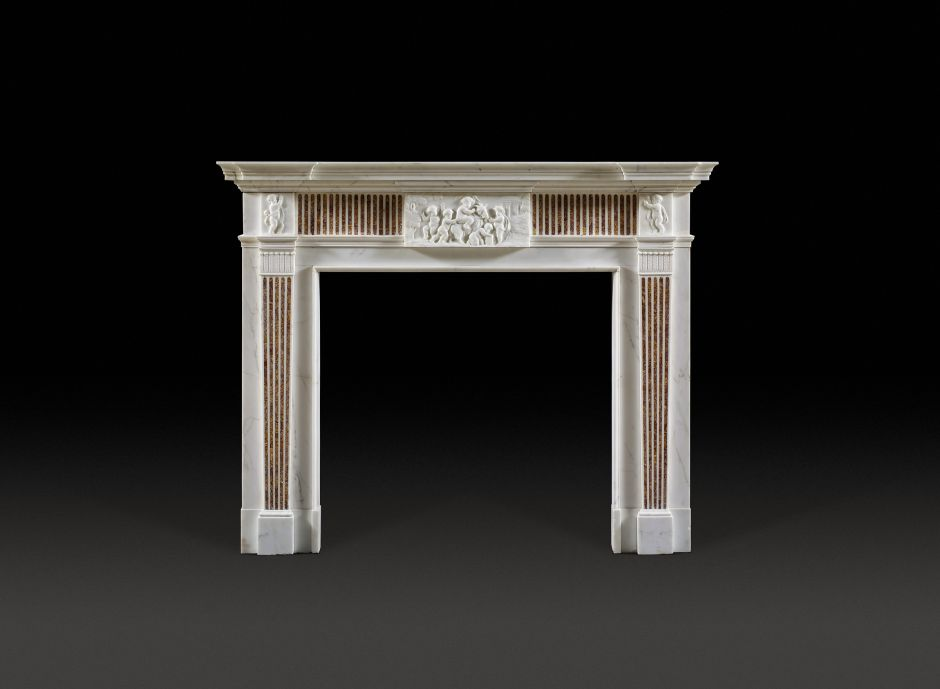 spanish marble antique fireplace