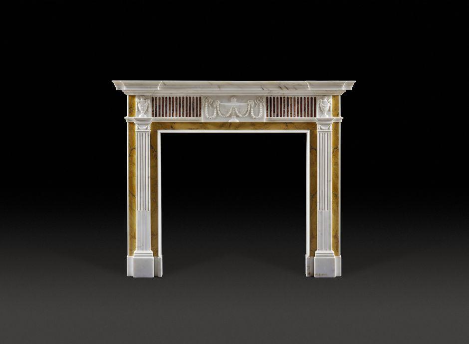 brocatello antique fireplace