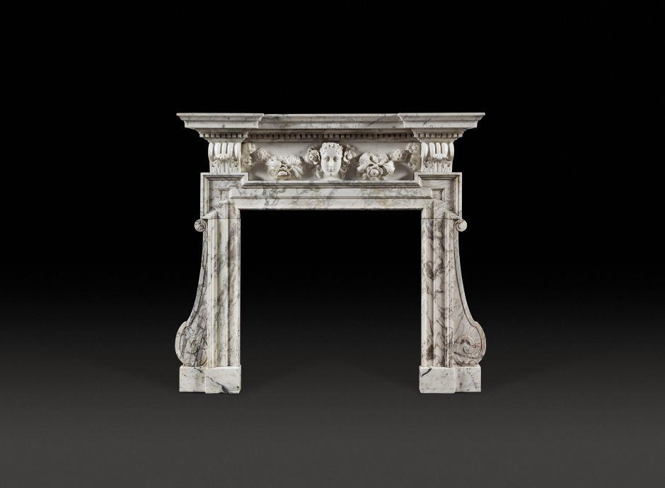 neopalladian antique fireplace
