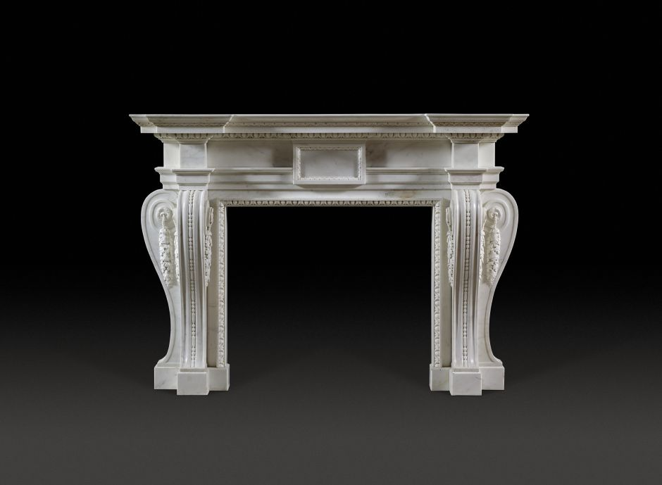palladian antique fireplace