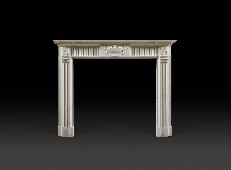 neoclassical marble antique fireplace
