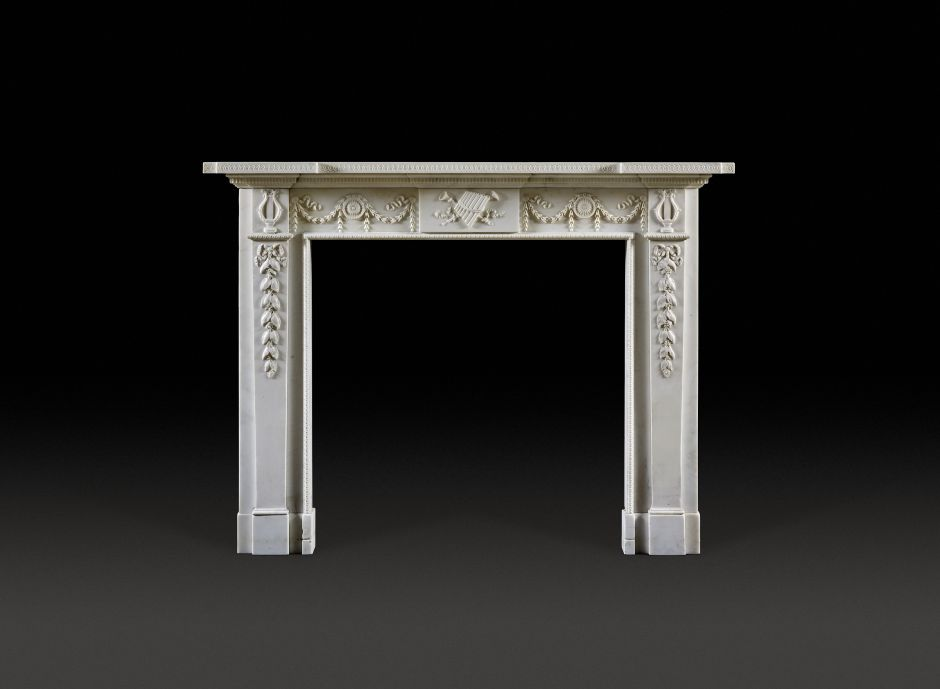 english neoclassical antique fireplace