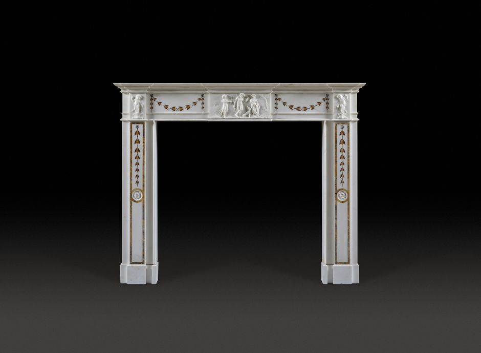 neoclassical antique fireplace