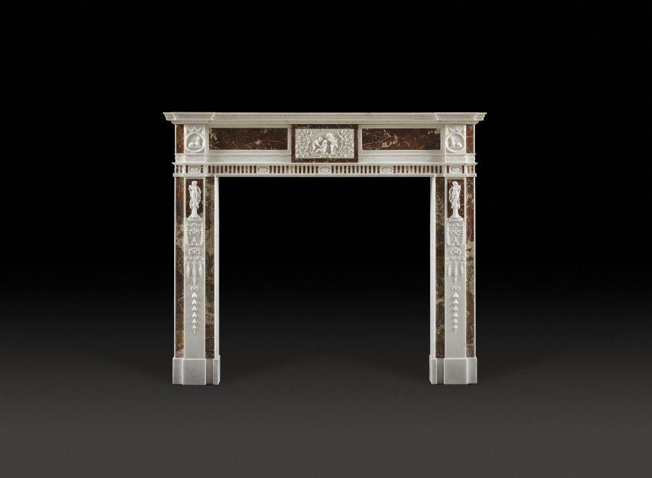 irish antique fireplace