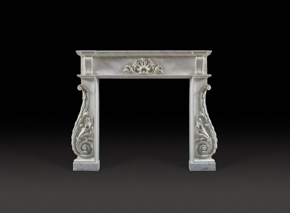 irish antique marble fireplace