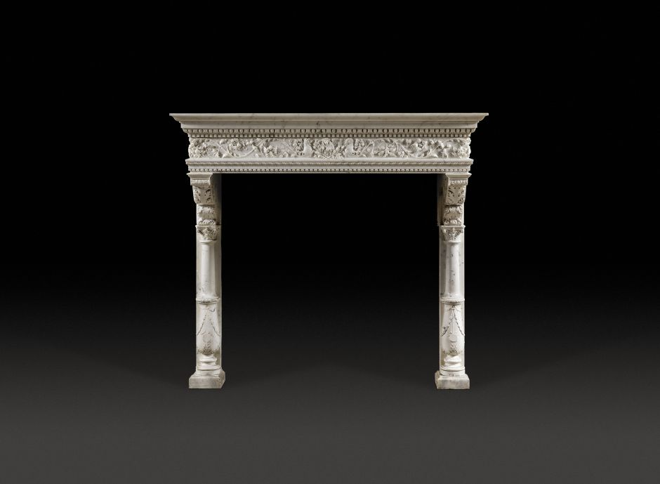renaissance antique fireplace
