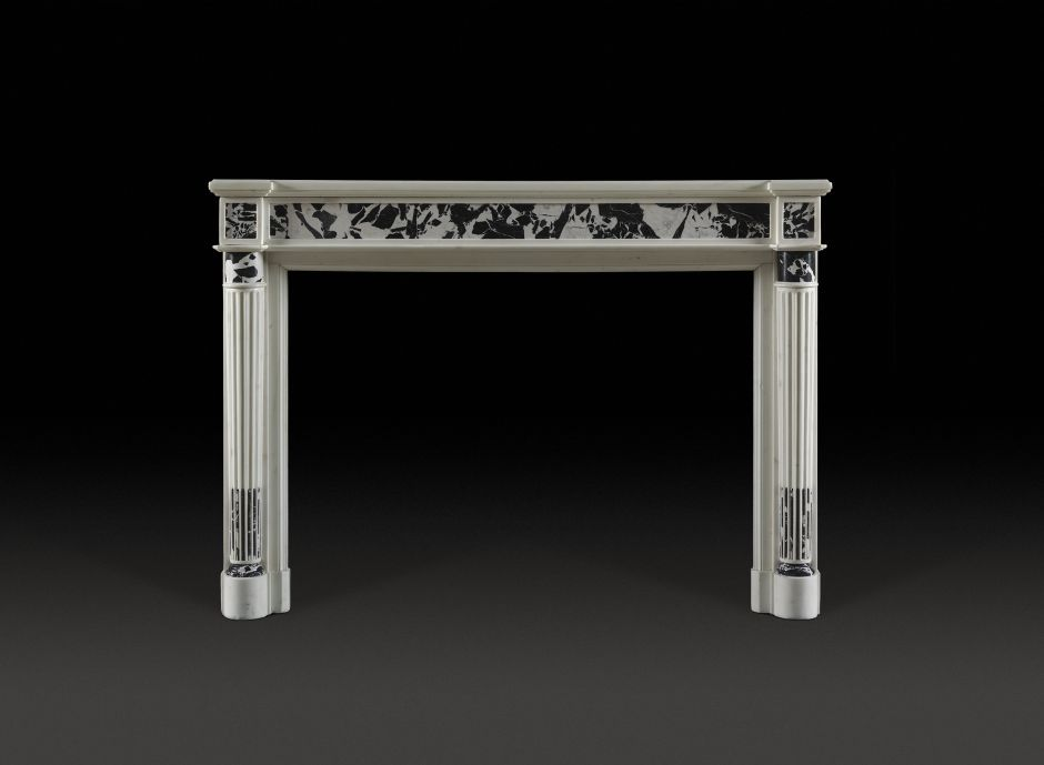 french revival antique fireplace