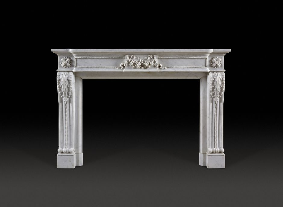 french antique marble fireplace
