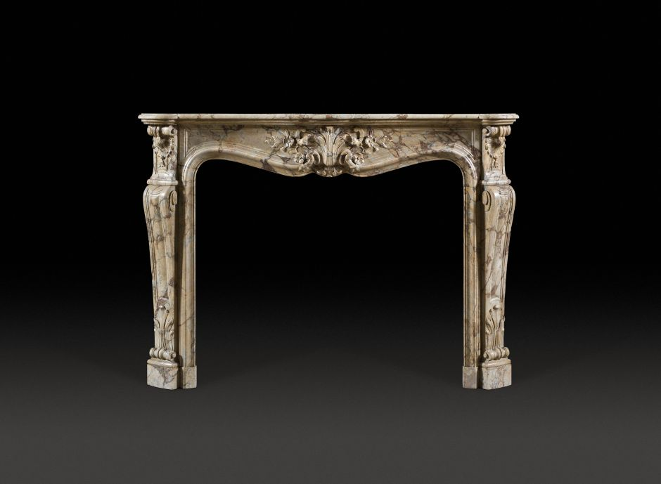 french marble antique fireplace