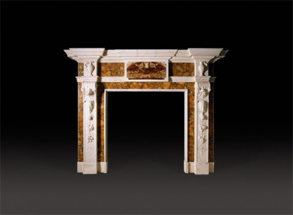 marble antique fireplace