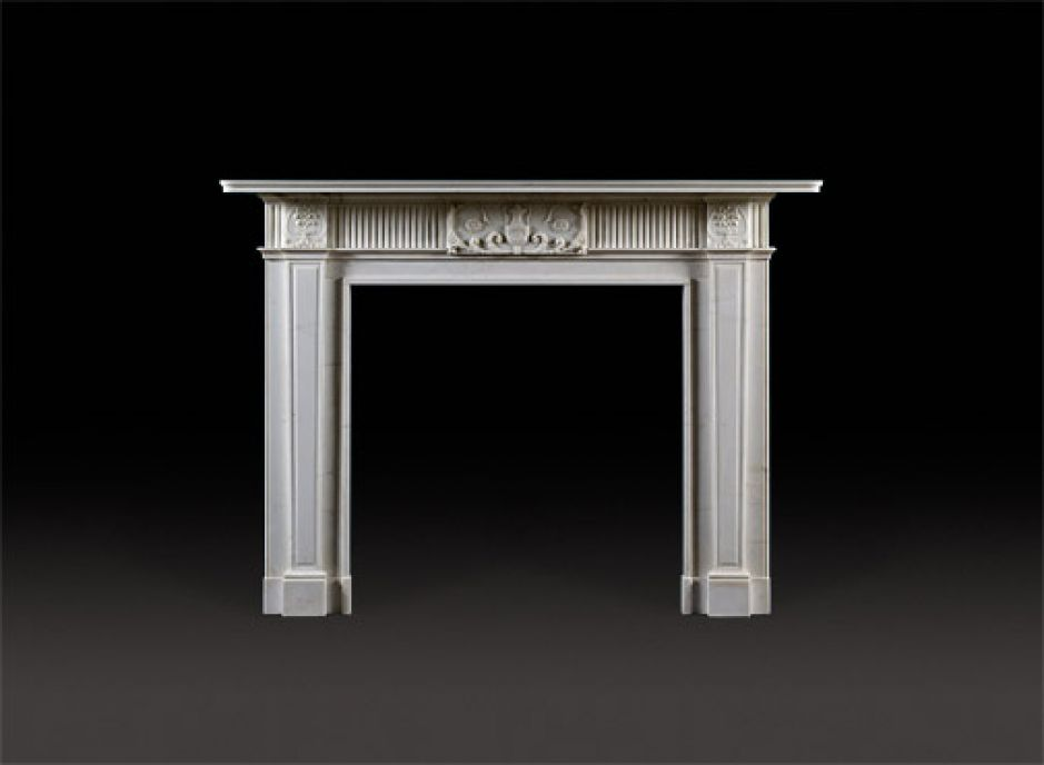 anglo-irish neoclassical antique fireplace