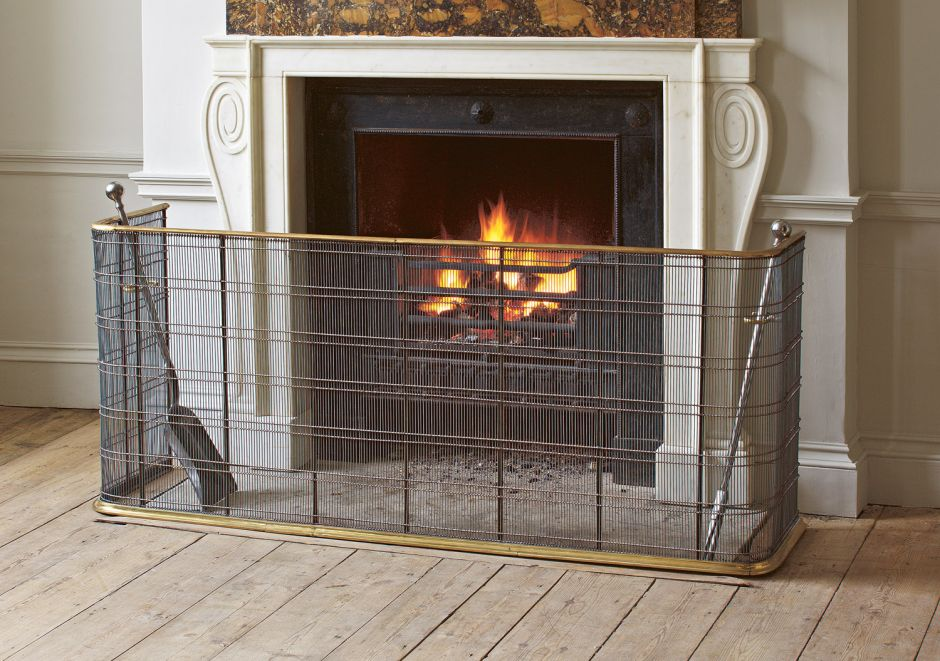 Large Brass Fire Guard Fire Grates Amp Accessories Jamb