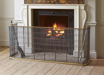 Large Brass Fire Guard